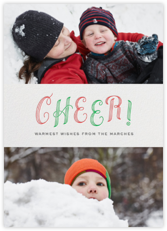 Cheer! - duo photo - Paperless Post - Holiday photo cards