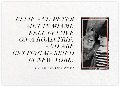 Novella - Rose Gold - Paperless Post - Photo save the dates