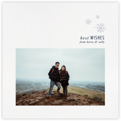 Falling Snow - Paperless Post - Holiday Cards