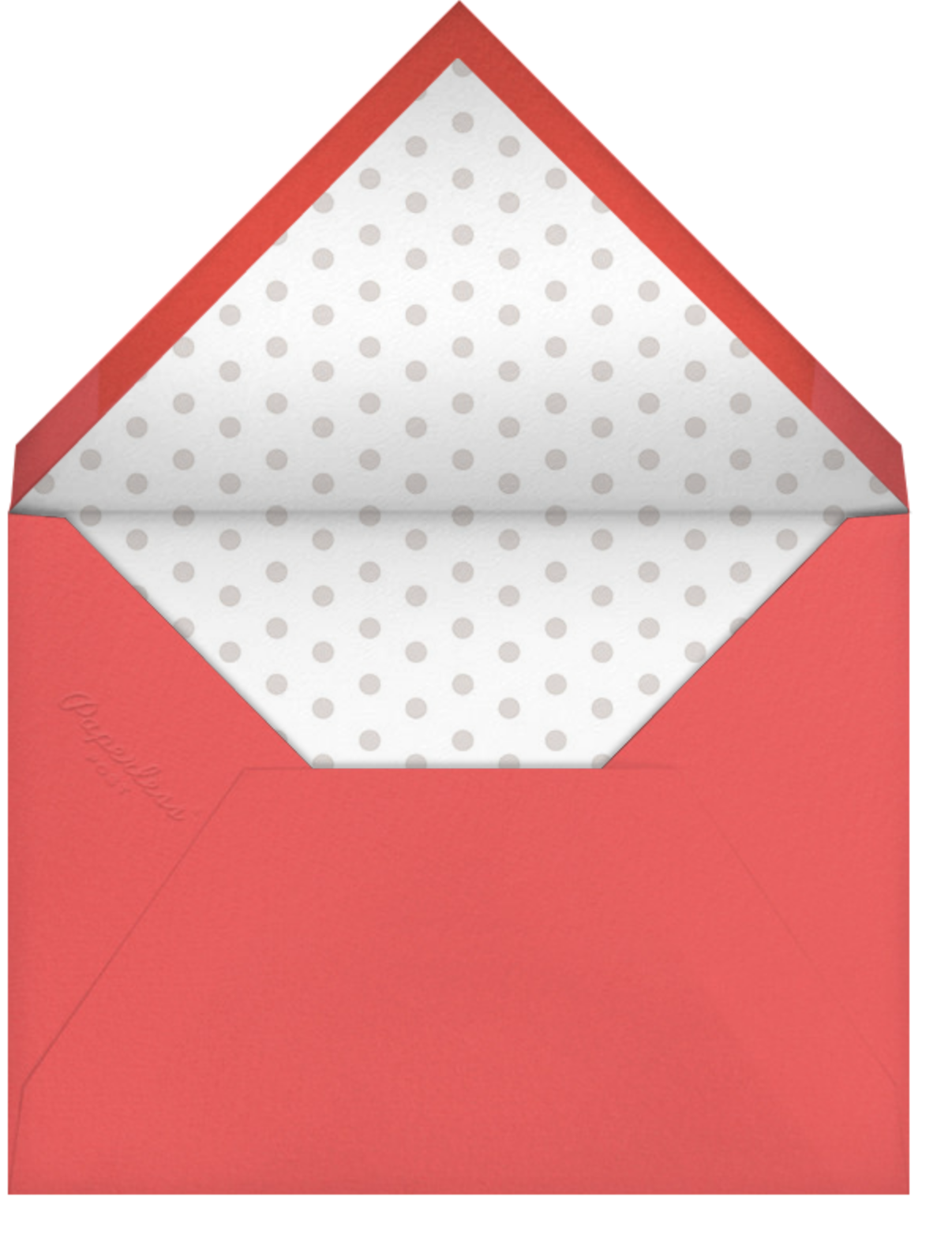 Merry Happy Jolly Cheer - Paperless Post - Holiday cards - envelope back