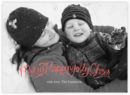 Merry Happy Jolly Cheer - Paperless Post - Affordable Christmas Cards