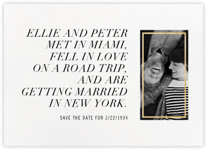 Novella - Gold - Paperless Post - Photo save the dates