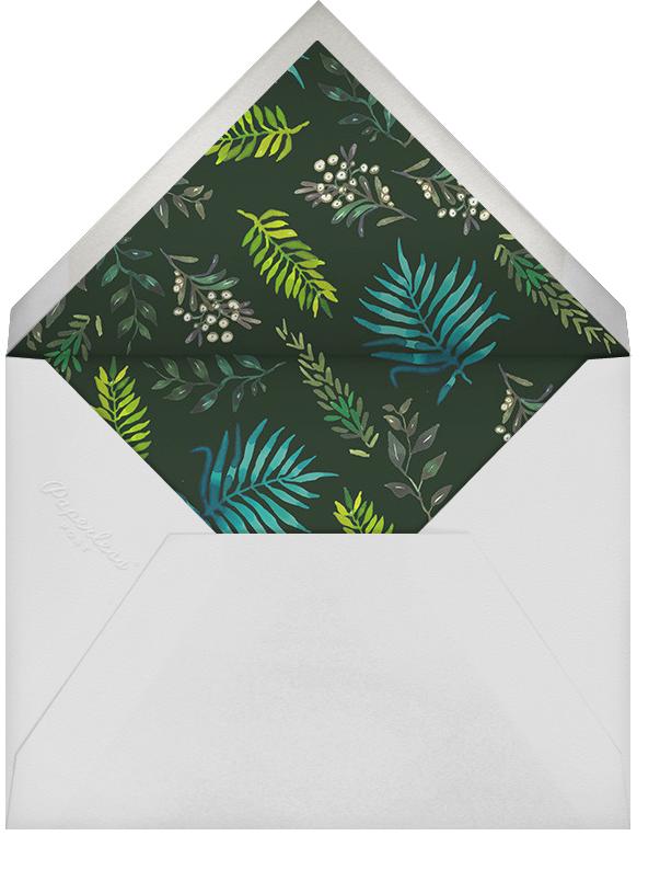 Mistletoe Mixer - Happy Menocal - Holiday cocktail party invitations - envelope back