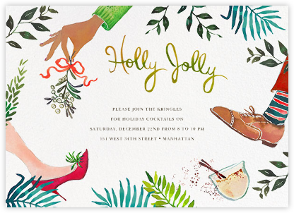 Mistletoe Mixer - Happy Menocal - Holiday invitations