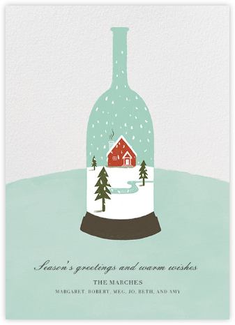 Wine Globe - Paperless Post - Holiday Cards