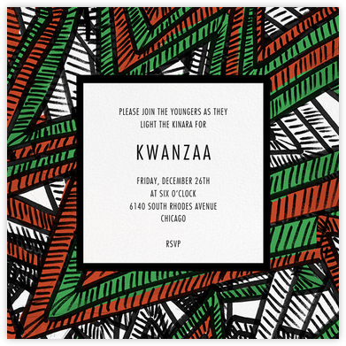 Boubou - Paperless Post - Kwanzaa Invitations
