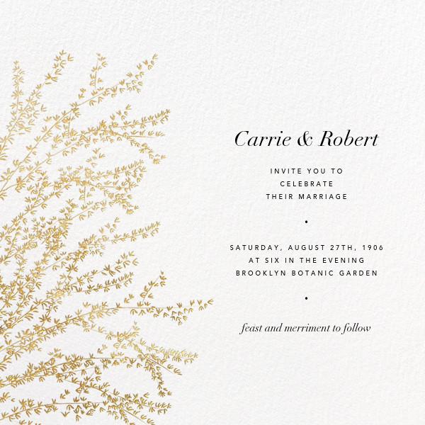 Forsythia - Gold - Paperless Post - Wedding invitations