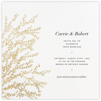 Forsythia - Gold - Paperless Post - Wedding Invitations
