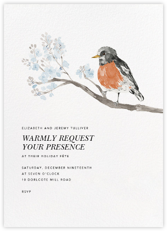 English Robin (Invitation) - Paperless Post - Winter Party Invitations