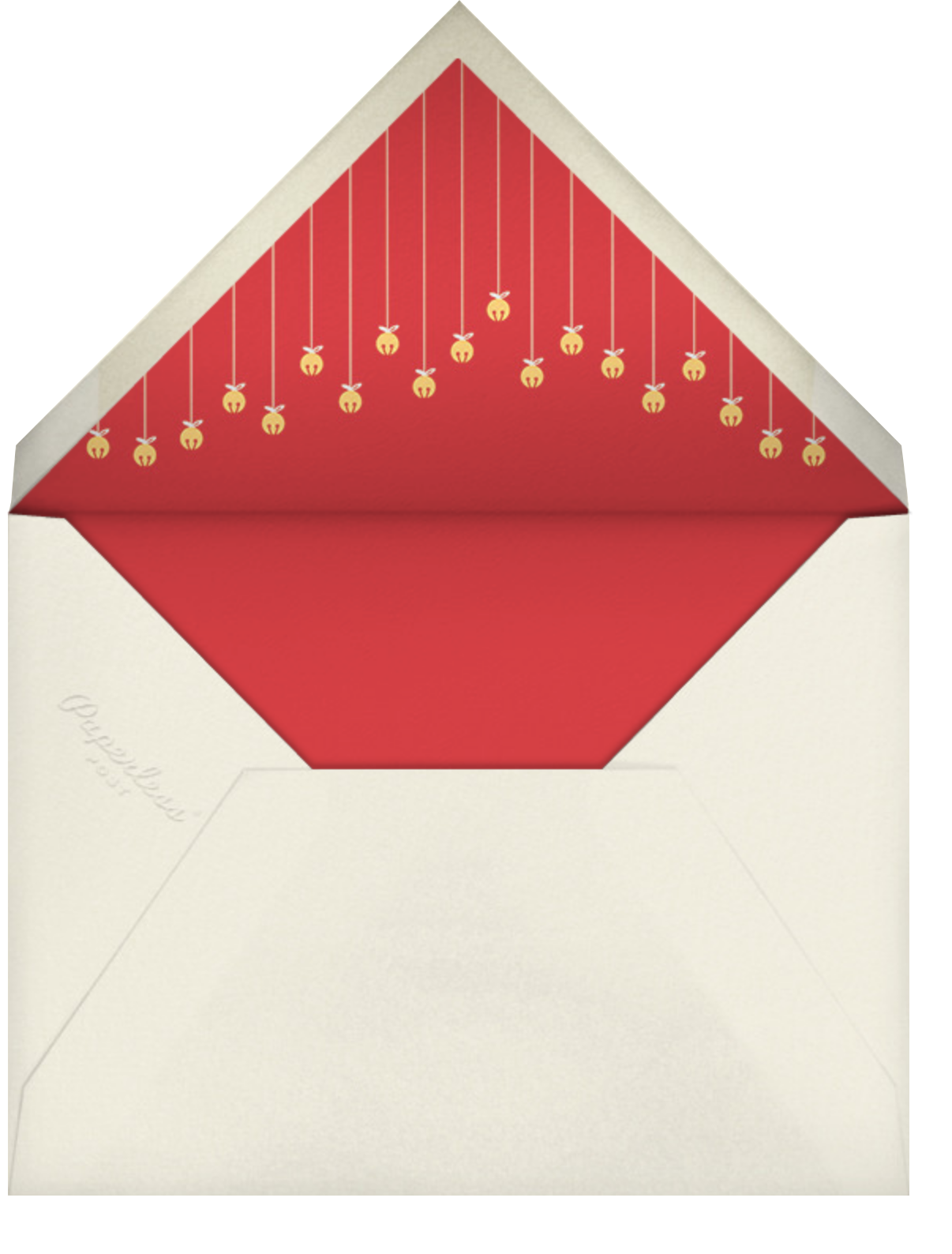 Jingle Bell Mingle - Paperless Post - Christmas party - envelope back