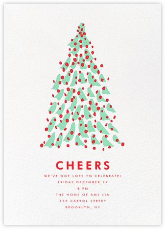 Kaleidoscopic Christmas (Invitation) - Mint - Linda and Harriett - Christmas invitations