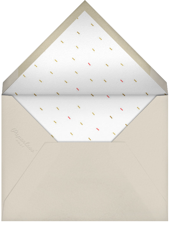 Party Animals - Gold Coral - Paperless Post - Adult birthday - envelope back