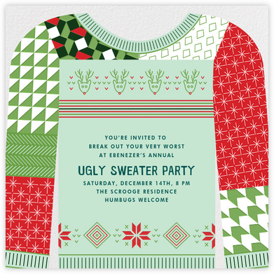 Patchwork Party - Paperless Post - Holiday party invitations