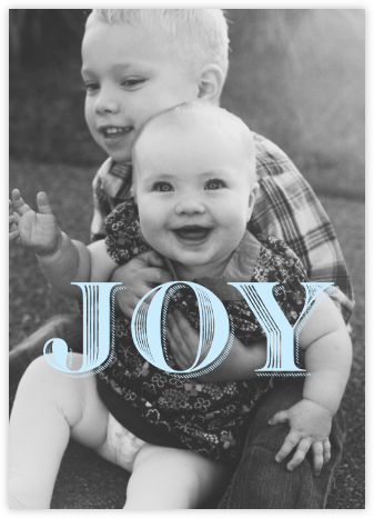 Joyful Photo - Paperless Post - Holiday Photo Cards