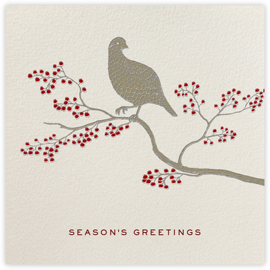 Holiday Partridge Square - Paperless Post - Online greeting cards