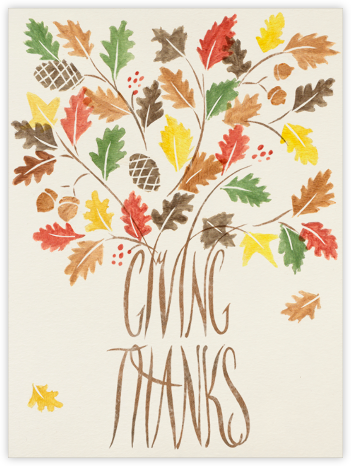 Giving Thanks | tall