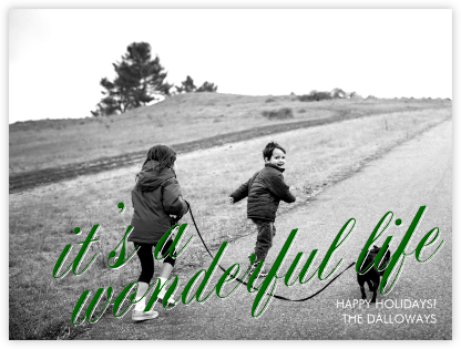 It's a Wonderful Life (Horizontal) -  Forest Green - Paperless Post -