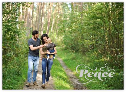 Peace on Earth (Photo) - Paperless Post - Holiday Cards