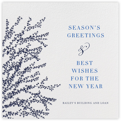 Forsythia - Navy - Paperless Post - Company holiday cards