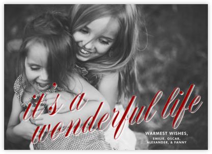 Its a Wonderful Life (Horizontal) - Crimson - Paperless Post -