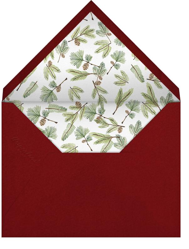 Double Border Photo (Horizontal) - Crimson/White - Paperless Post - Holiday cards - envelope back