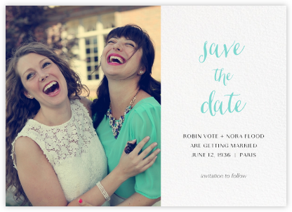 Photo Spread (Save the Date) - White - Paperless Post - Save the dates