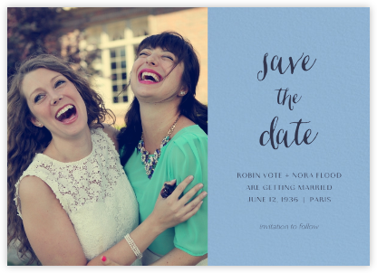 Photo Spread - Powder Blue - Paperless Post - Modern save the dates