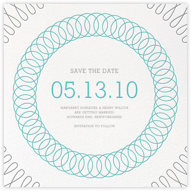 Spirals (Save the Date) - Lagoon - Paperless Post - Save the dates