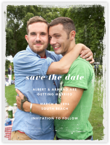 Grunge Border - Paperless Post - Save the dates