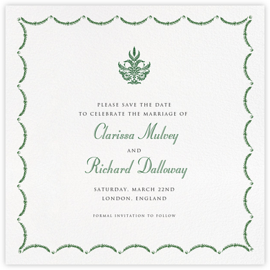 Garland  (Square) - Green - Paperless Post -