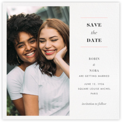 Split Square (Save the Date) - Paperless Post - Online Party Invitations