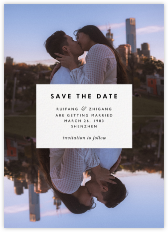 Center Cut Out - Paperless Post - Modern save the dates