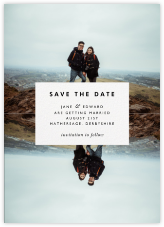 Center Cut Out - Paperless Post - Save the dates