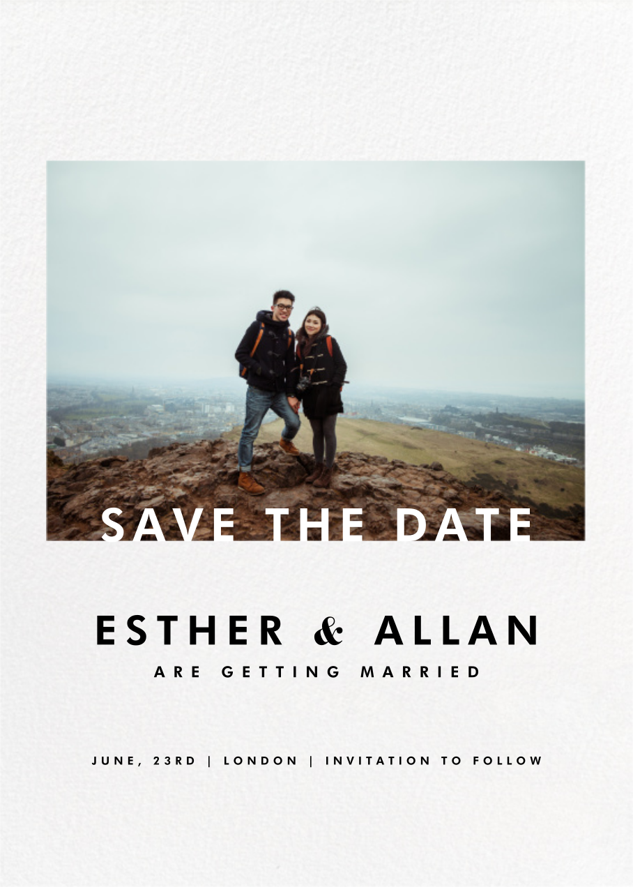 Horizontal Photo on Tall (Save the Date) - Paperless Post - Save the dates