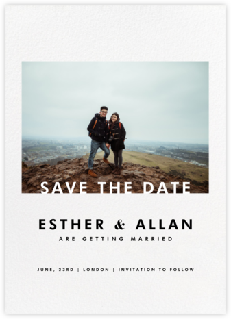 Horizontal Photo on Tall (Save the Date) - Paperless Post -