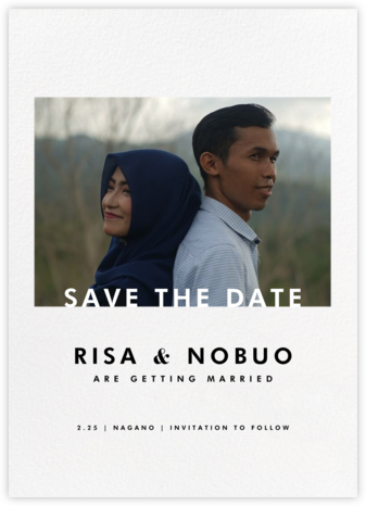 Horizontal Photo on Tall (Save the Date) - Paperless Post - Modern save the dates