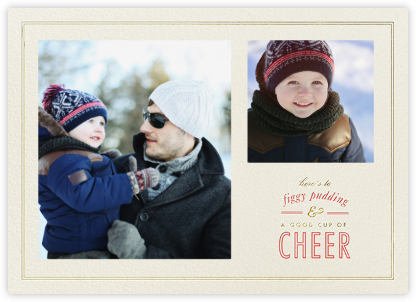 Figgy Cheer - Sepia Coral - Paperless Post - Holiday Cards