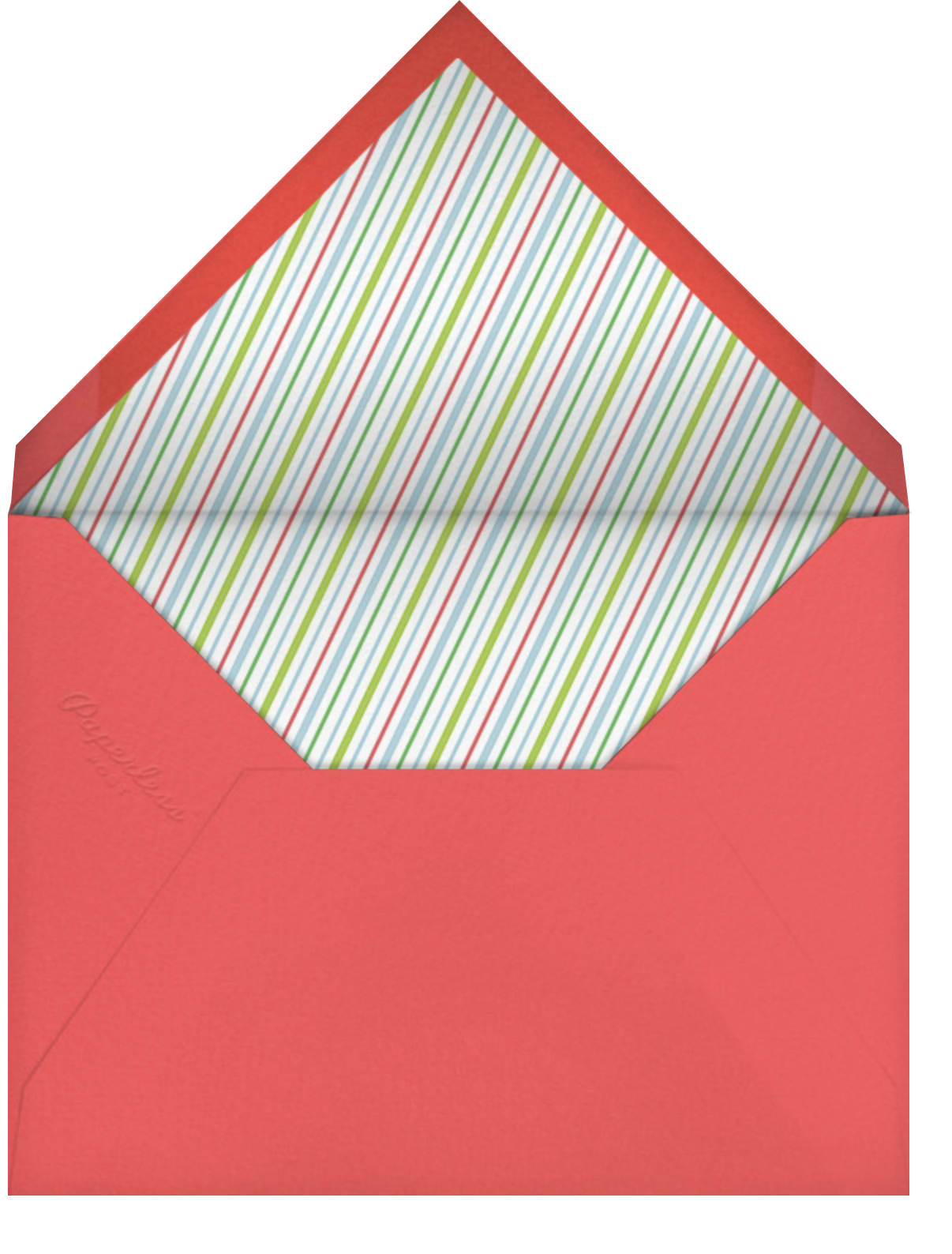 Holly Go Brightly - Paperless Post - Holiday cards - envelope back