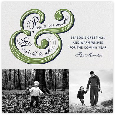 Ampersand Tidings - Paperless Post - Holiday Cards