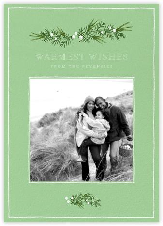 Little Boughs Flourish - Green - Paperless Post -