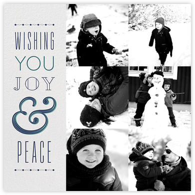Ampersand Banner Blue - Paperless Post - Holiday Cards