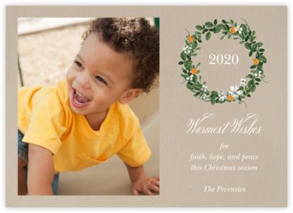 Kumquat Wreath - Paperless Post - Affordable Christmas Cards