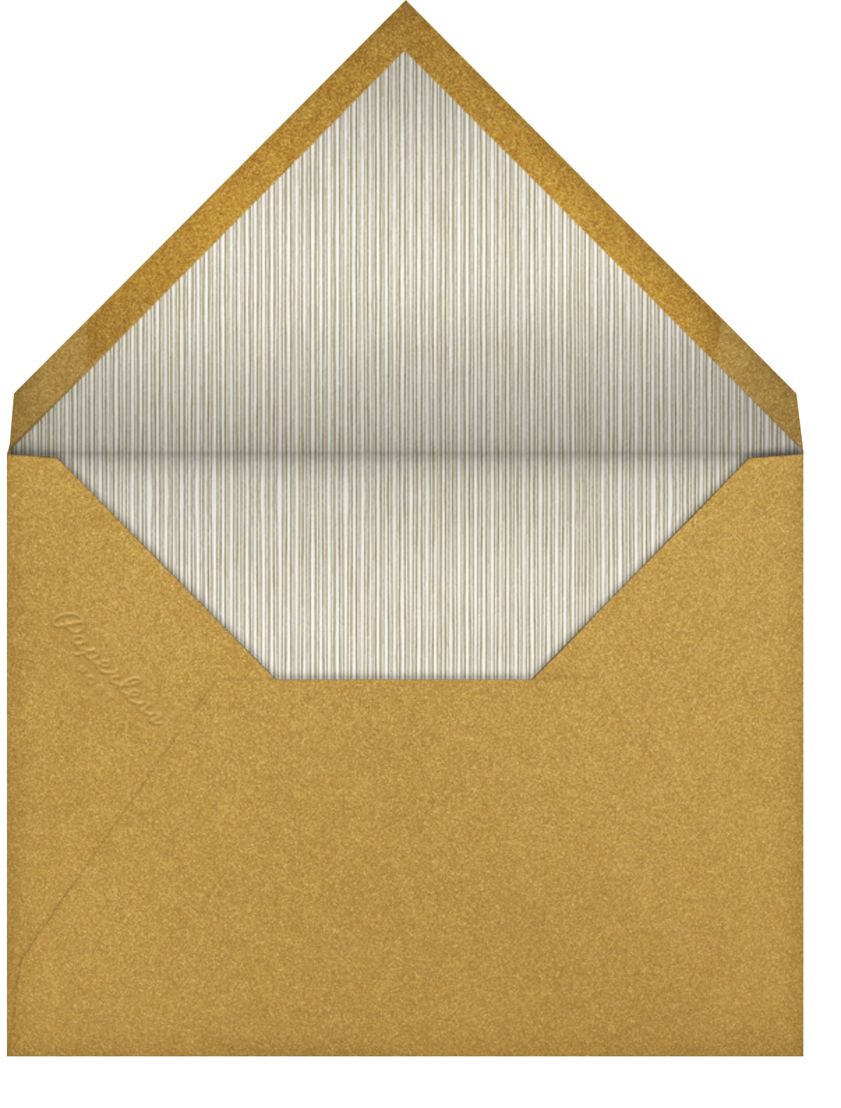 Perle Horizontal - Moss - Paperless Post - Holiday cards - envelope back