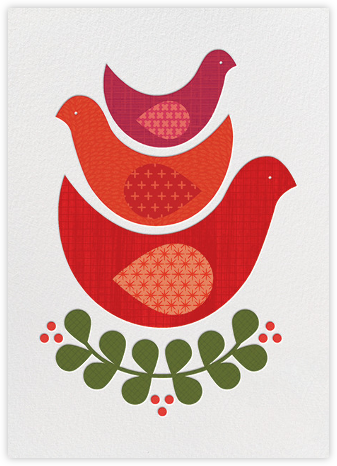Three Little Birds - Petit Collage - New Year Cards