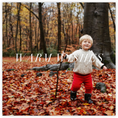 Full-Page Photo Ivory (Double-Sided) - Square - Paperless Post - Holiday Cards