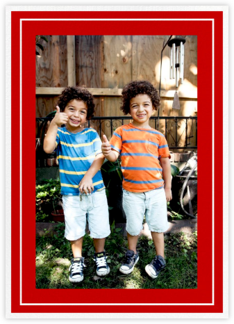 Double Border Photo (Tall) - Red - Paperless Post -