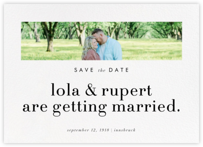Glimpse - Paperless Post - Modern save the dates