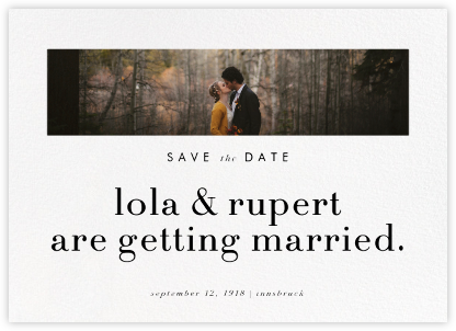 Glimpse - Paperless Post - Photo save the dates