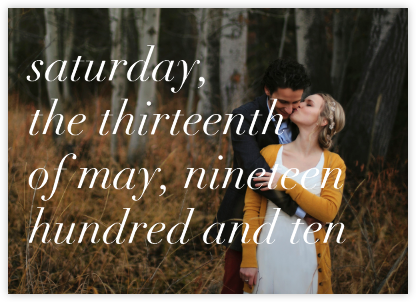 Full-Page Photo (Two-Sided Horizontal) - Ivory - Paperless Post - Modern save the dates