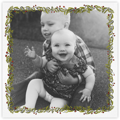 Fir Frame (Square) - Paperless Post - Christmas Cards